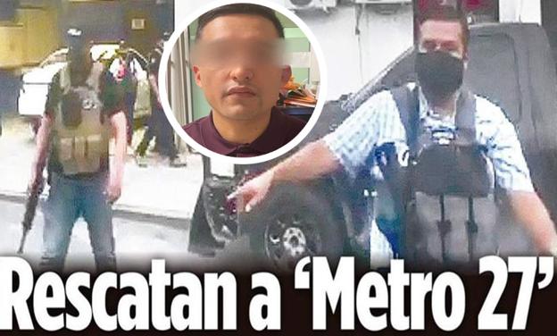 """Video: Así fue rescatado por sus sicarios  """"El Metro 27"""" líder del CDG de las instalaciones de la Fiscalía en Reynosa, Tamaulipas fueron humillados"""