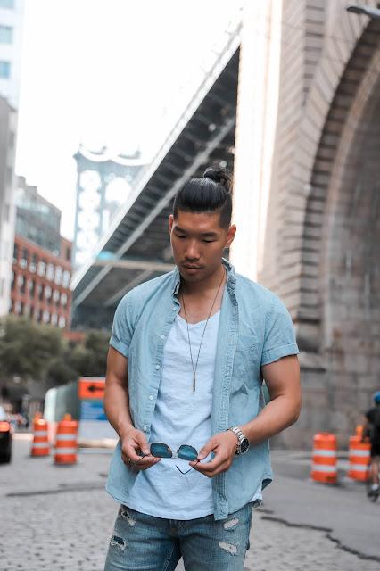 Leo Chan wearing Tristian Suede Sneaker from Gordon Rush, Menswear Blogger