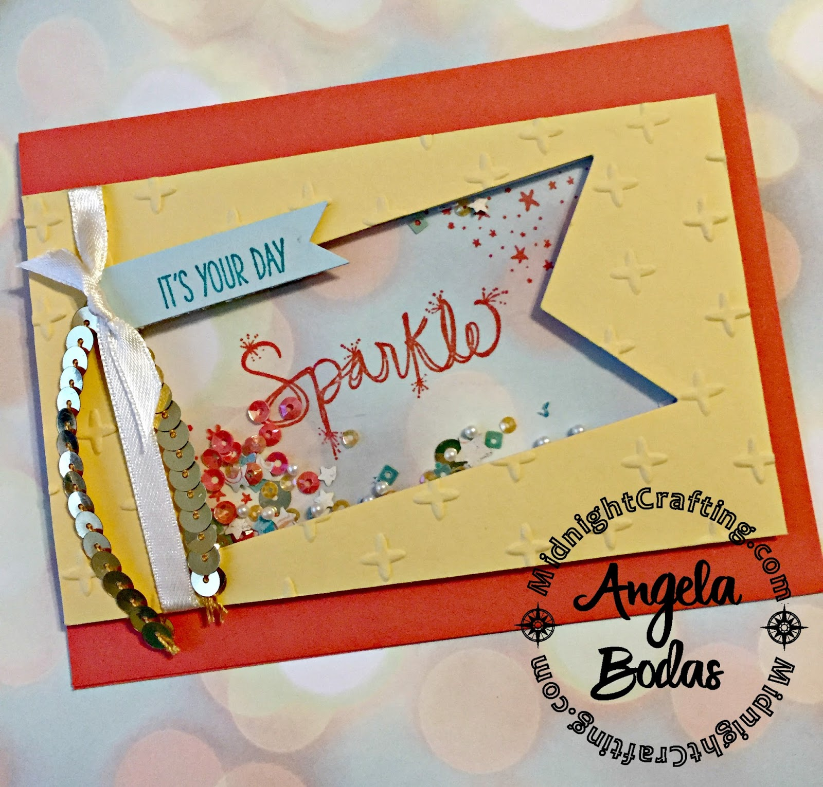 Love Sparkles Shaker Card Occasions 2017 Midnight Crafting