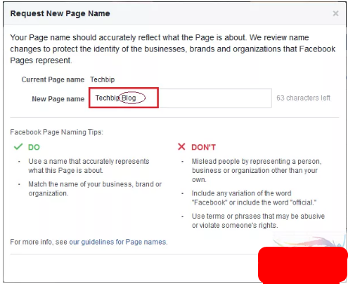 How to Change Facebook Page Name 2017