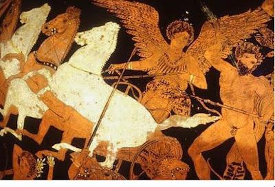 Zeus y la diosa Nike