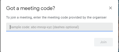 join a google meeting