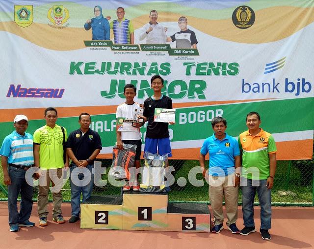 Aldhito Borong Gelar Juara Kejurnas Tenis Yunior Piala Bupati Bogor