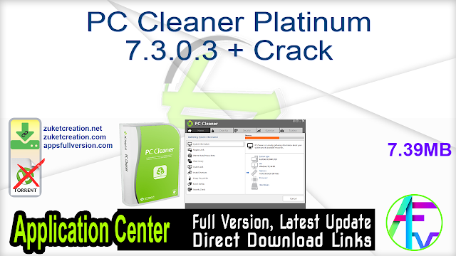 PC Cleaner Platinum 7.3.0.3 + Crack