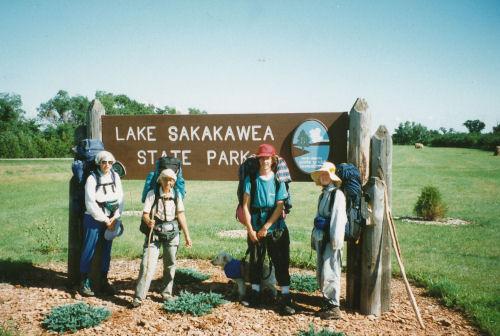 Lake Sakakwea State Park North Country Trail terminus