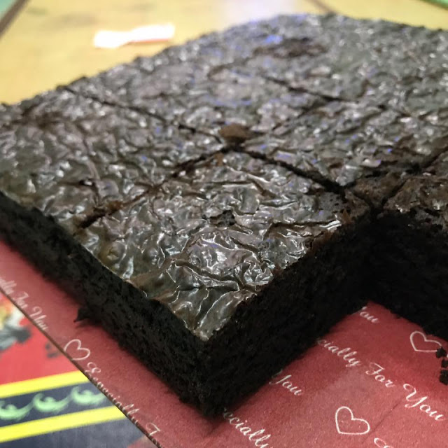 Resepi Brownies Kedut, Brownies Kedut, Resepi Brownies, Chewy Fudge Brownies,