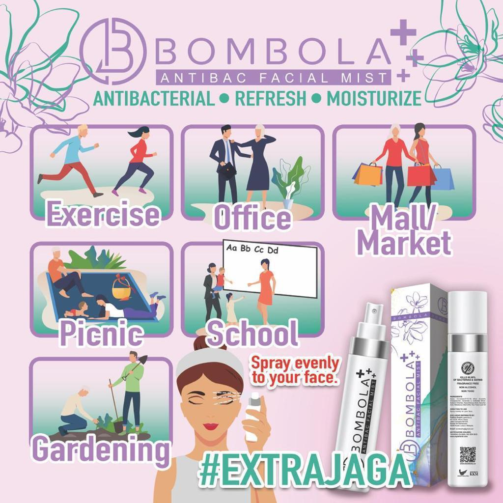 Bombola, Bombola AntiBac Facial Mist, Beauty by Rawlins, Rawlins GLAM, Rawlins Lifestyle, Extra Jaga