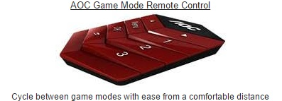 AOC Game Mode Remote Control