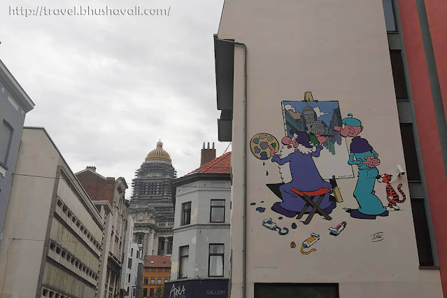 Brussels Comic Strip Walk Leonardo da Vinci