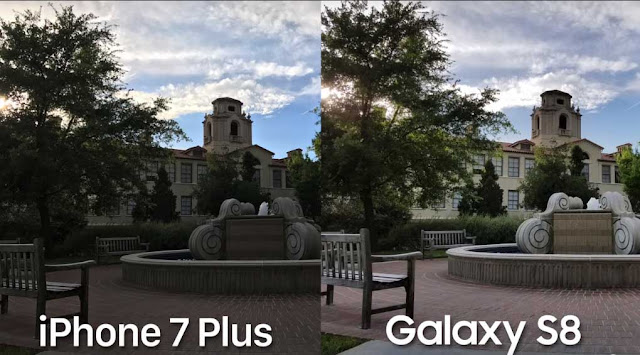 camera comperission iPhone 7 and galaxy