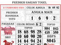 PREDIKSI INDONESIA TOTO KAMIS, 27 FEBRUARY 2020