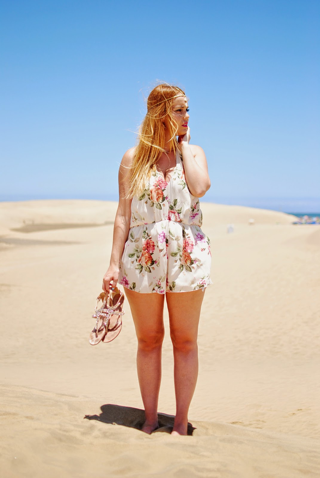 nery hdez, inlovewithfashion, playsuits, head band, jollychic, floral print