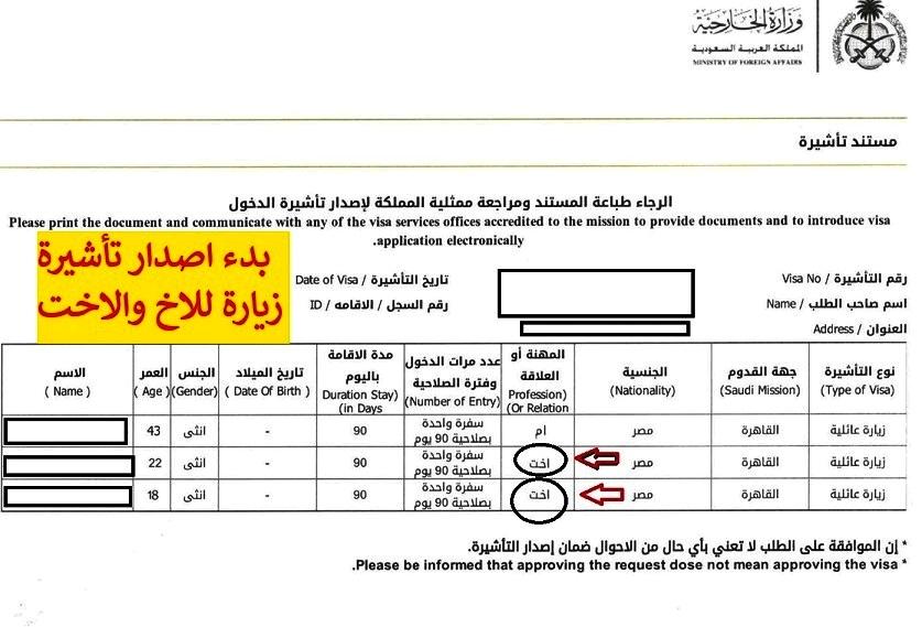 اليوم بدء اصدار تأشيرات الاخ والاخت وطريقة التقديم علي التأشيرة
