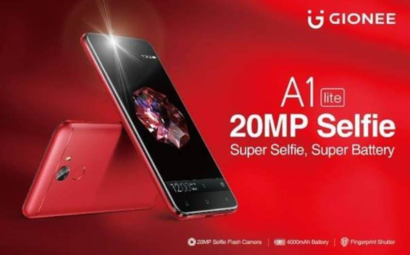 Gionee A1 Lite Now in the Philippines, 20MP Selfie Camera and 4000mAh Battery for Php12,999