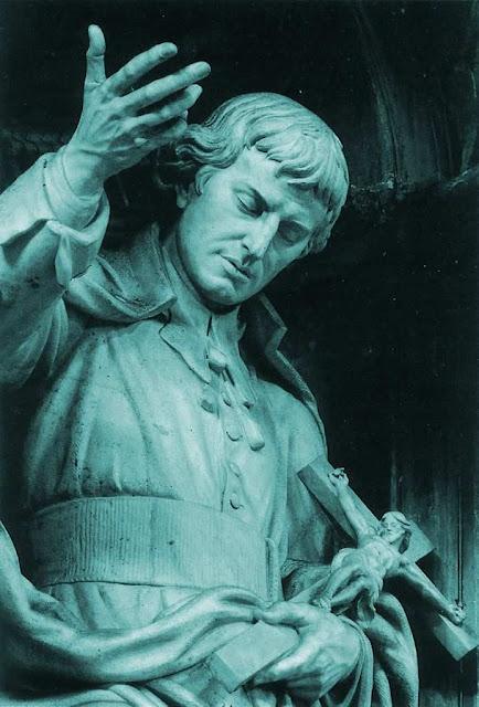 São Luís Maria Grignion de Montfort, estátua na basílica de São Pedro