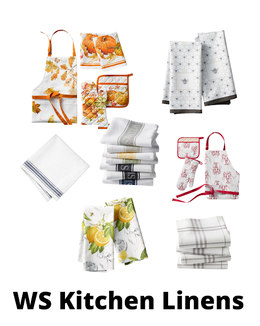 Williams Sonoma kitchen linens