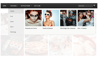 Mega Menu with Images or Thumbnails for Blogger 1