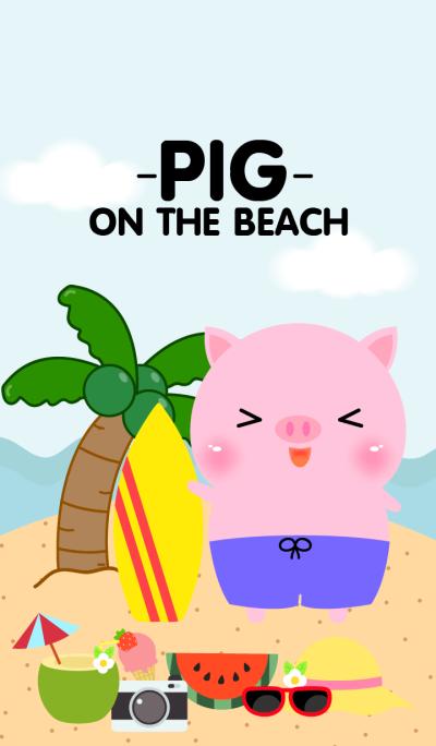 Pink Pig on the beach Theme (jp)