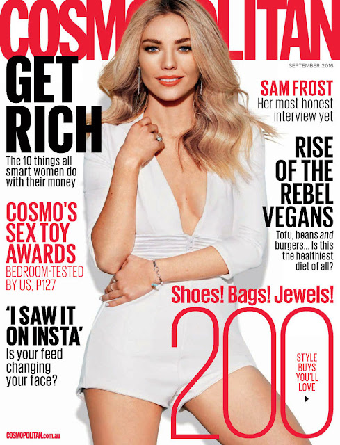 Models, TV Star @ Sam Frost - Cosmopolitan Australia, September 2016