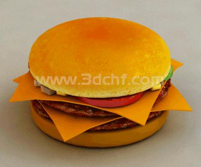 burger 3d model free