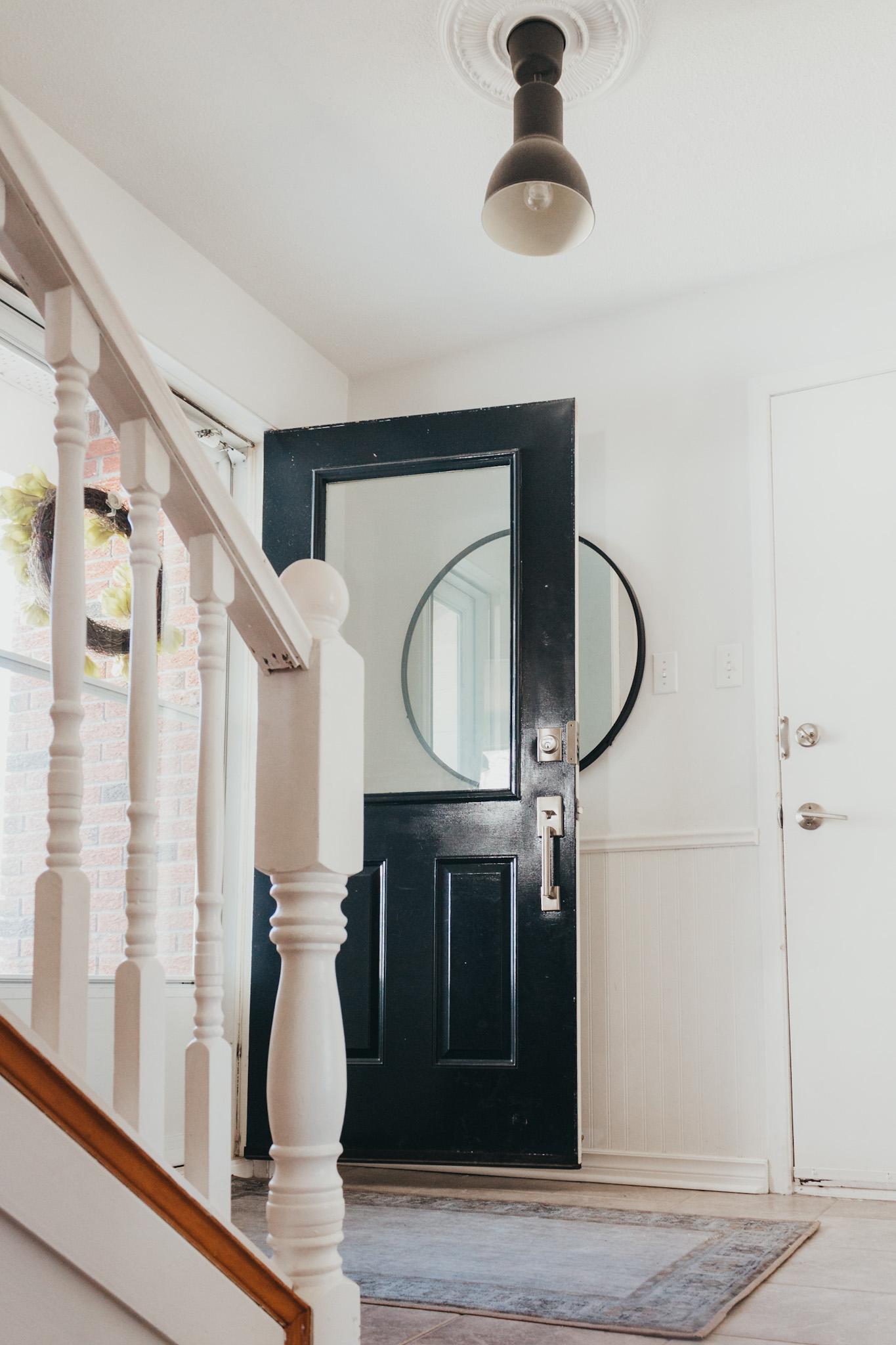 Black Painted front door