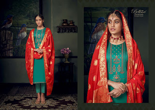 Belliza Designer Banarasi Jam Silk Salwar Suits Collection