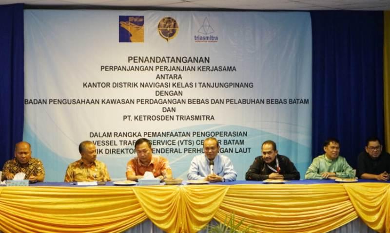 BP Batam Tandatangani PKS Pemanfaatan VTS Batam dengan Disnav Kelas 1 Tanjungpinang