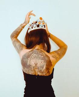wish rathod back tattoos
