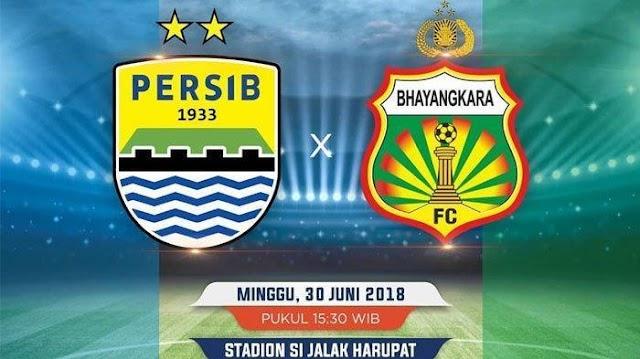 Hasil Pertandingan Liga 1, Persib vs Bhayangkara