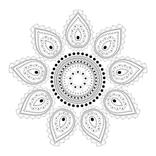 rangoli design by dots