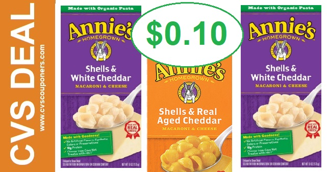 Annie's Mac & Cheese CVS Deal $0.10 8/4-8/10