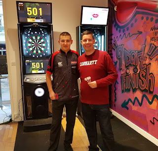 Nathan 'The Asp' Aspinall and Richard Gottfried at The Players' Entrance at the Merseyway shopping centre in Stockport