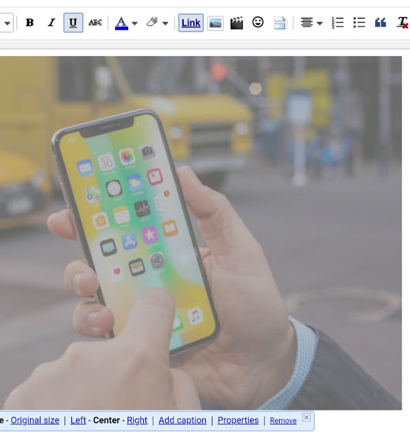 Add caption in Blogger images
