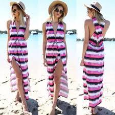 Model Dress Panjang Pantai Wanita Terbaru