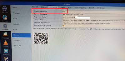 Setting Online NVR UNV menggunakan EZview