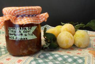 Receta de mermelada de ciruela amarilla y manzana.