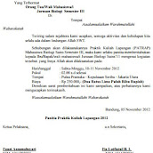 Contoh Surat Pemberitahuan Ziarah Doylc Asia