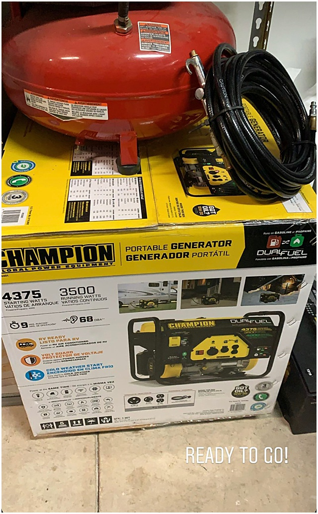 champion generator ready to go