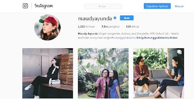 Akun Instagram Maudy Ayunda