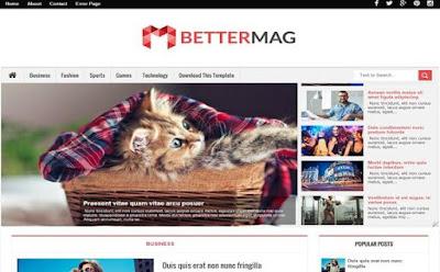 BetterMag - скачать бесплатно шаблон для blogger blogspot