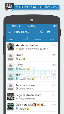 Preview BBM Materialism Flat Blue Sky V2.12.0.9