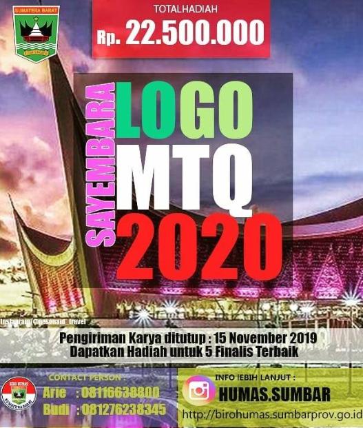 Lomba Desain Logo MTQ Nasional 2019, Gratis dan Hadiah 22,5 Jt