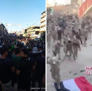 احداث كربلاء وقمع المتظاهرين - ثورة تشرين بين الحرميين وماحصل من احداث