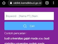 Cek data Online Ijasah darat di pddikti.kemdikbud.go.id