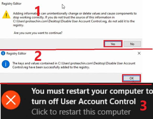 تعطيل disabled user account control