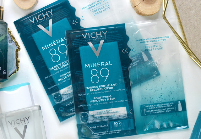 Vichy Mineral 89 Fortifying Recovery Mask Flatlay