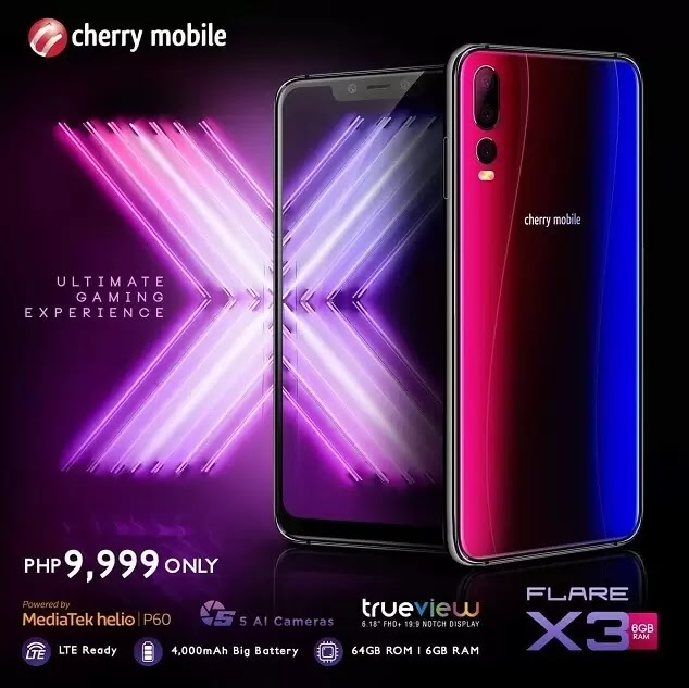 Cherry Mobile Flare X3 Specs, Price, Availability