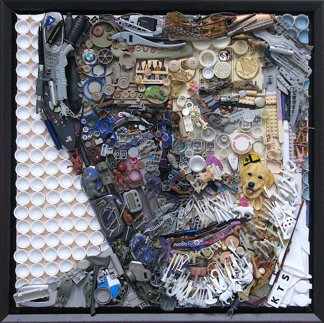 art by Kirkland Smith, many objects are composited to make a portrait