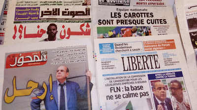 الصحافة الجزائرية تدعو روراوة الى الرحيل وتتهجم على المدرب والاعبين
