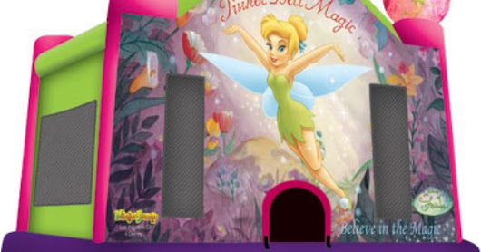 TINKERBELL LICENSED JUMPER, BOUNCE HOUSE OR MOONWALK